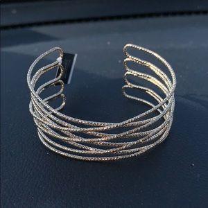 Multi-cross cuff bracelet by INC